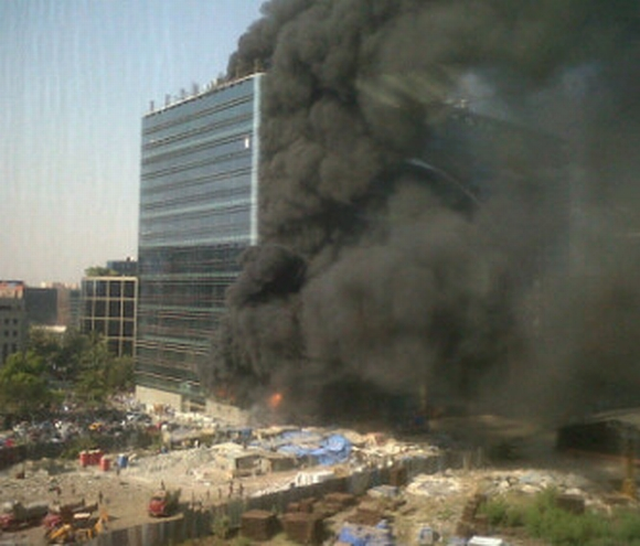 Major fire breaks out at building in Mumbai's BKC
