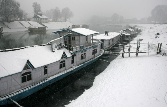 Houseboats on the River Jhelum