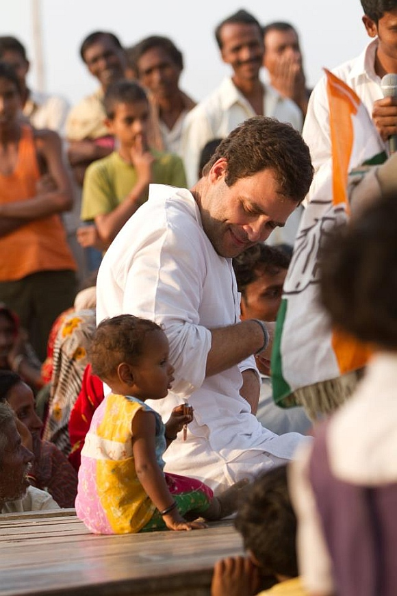 Rahul Gandhi during his UP tour