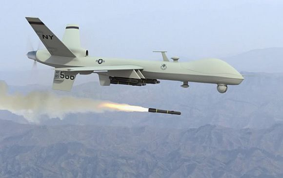 A US Predator drone in operation over North Waziristan
