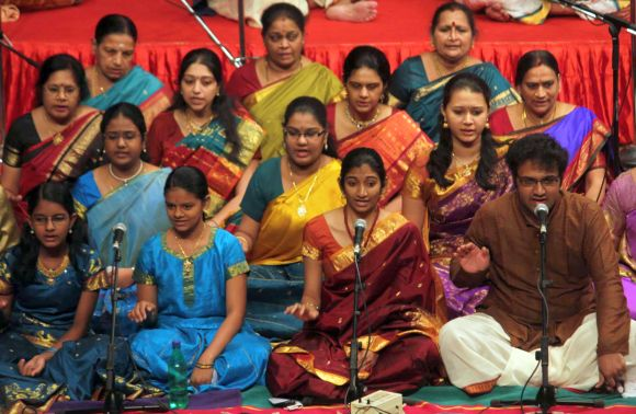 Vocalists render 'krithis' composed by Saint Thyagaraja on Thyagaraja Aradhana day