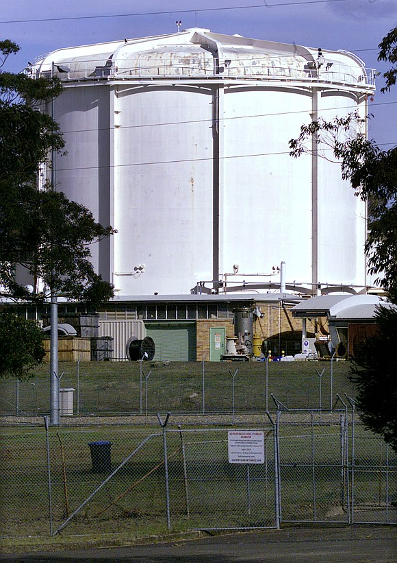 Australia's only nuclear reactor is seen in this picture, located in the southwestern suburb of Lucas Heights, about 25 kilometres from the centre of Sydney