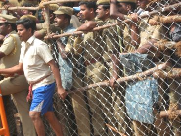 The Alanganallur venue witnessed heavy police presence