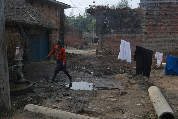 The village is filthy because the cleaners don't work, claims the village pradhan