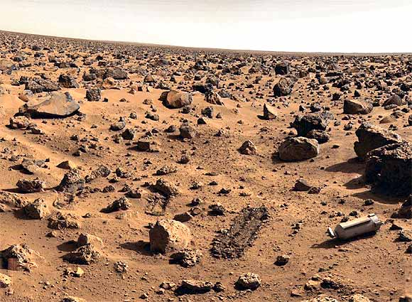 A file photo of the surface of Mars