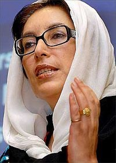 Then Pakistan prime minister Benazir Bhutto, who Ijaz warned about a possible coup