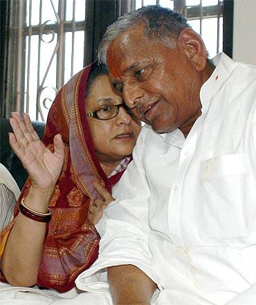 Mulayam Singh Yadav with Jaya Bachchan
