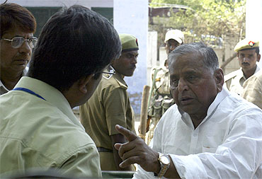 Mulayam Singh, in action
