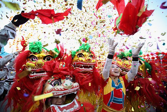 China celebrates the Year of the Dragon