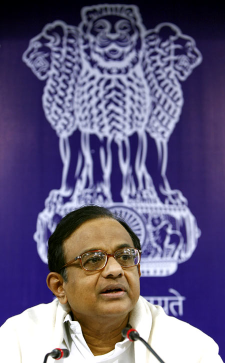 India's Home Minister Palaniappan Chidambaram