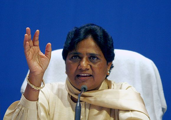 UP Chief Minister Mayawati addresses the media in New Delhi