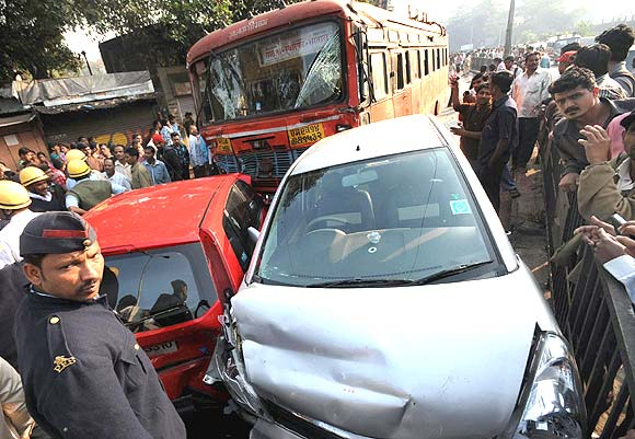 The Maharashtra State Corporation bus that was driven by the rogue bus driver