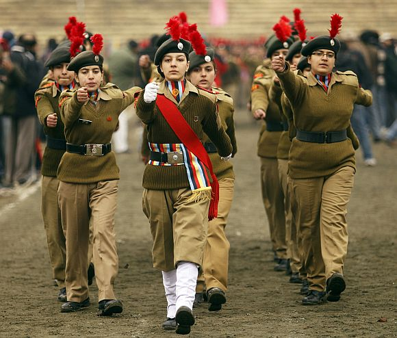 A contingent of the National Cadet Corps