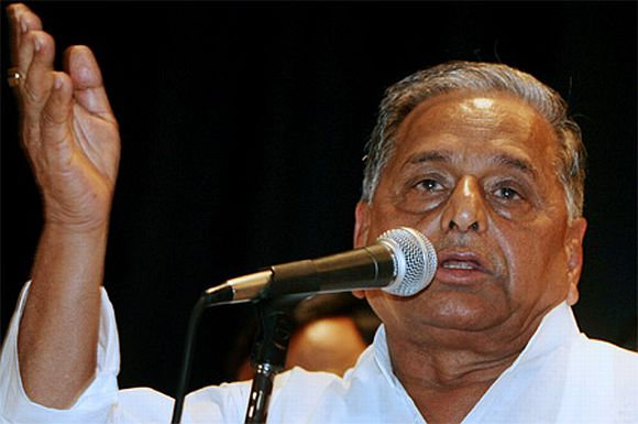 Samajwadi Party leader Mulayam Singh Yadav