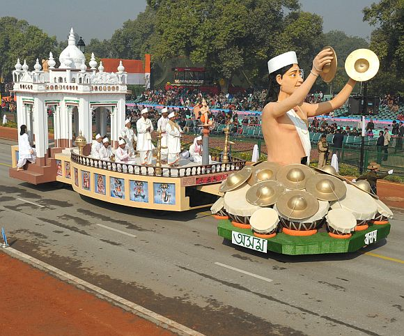 The tableau of Assam passes through the Rajpath