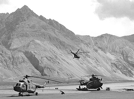 Indian Air Force helicopters are used extensively for aerial drops in the Siachen Glacier
