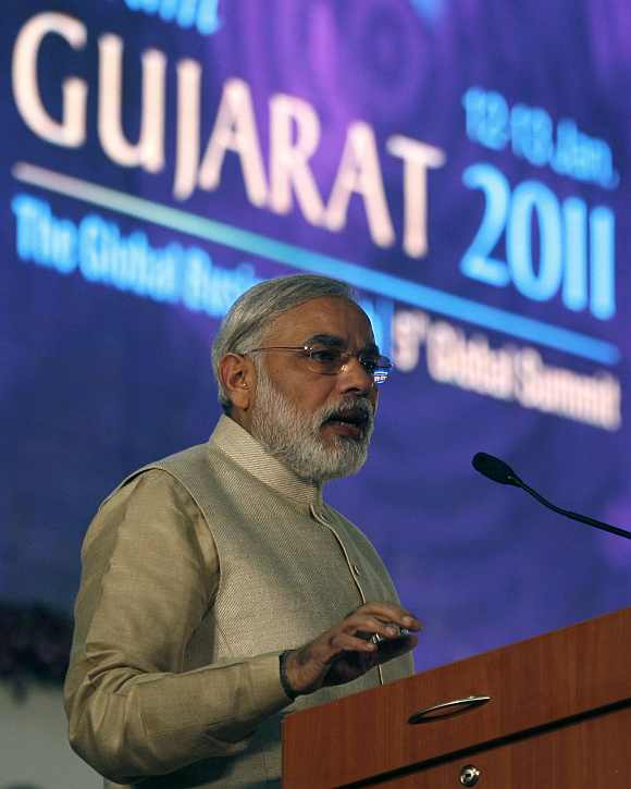 Modi at the Vibrant Gujarat summit
