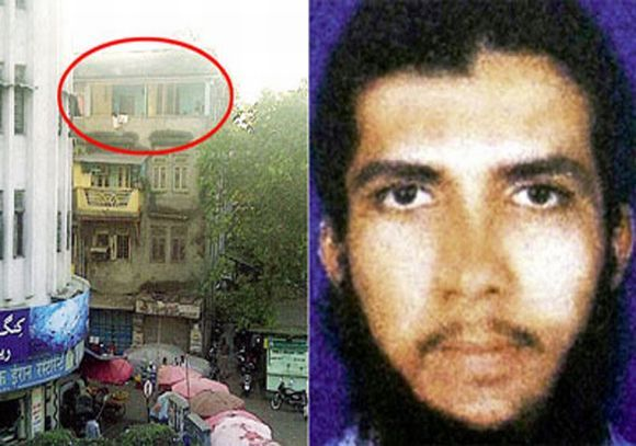 (Right) Yaseen Bhatkal. (Left) The house in Byculla locality of Mumbai where Yaseen and other IM members planned and executed the 13/7 attacks