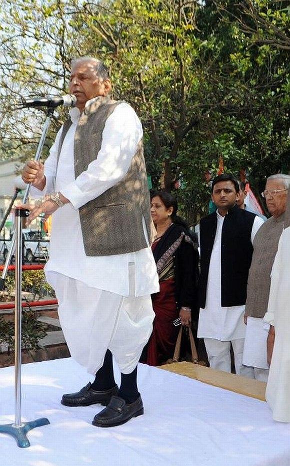 Samajwadi Party president Mulayam Singh Yadav