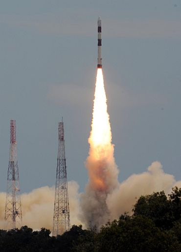 A file photo of a PSLV launch