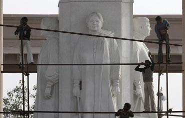 A statue of Mayawati