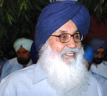 Punjab CM Parkash Singh Badal