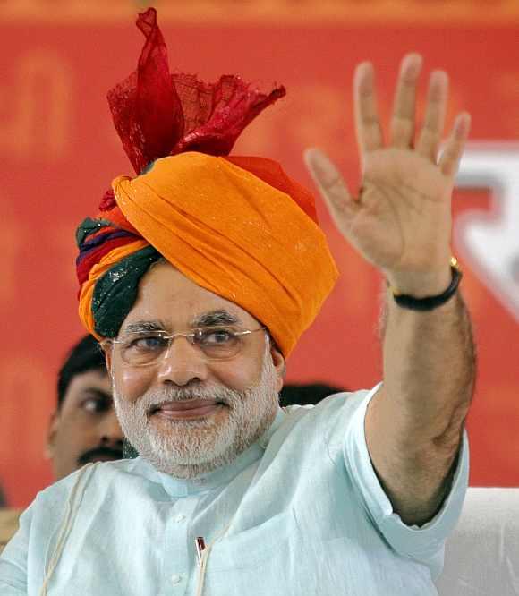 Narendra Modi, a BJP official during L K Advani's rath yatra