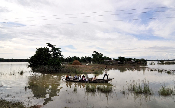 The flood-affected people of Naleni village