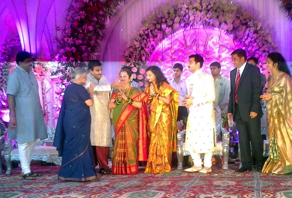 Wedding reception of Bharatiya Janata Party chief Nitin Gadkari's son