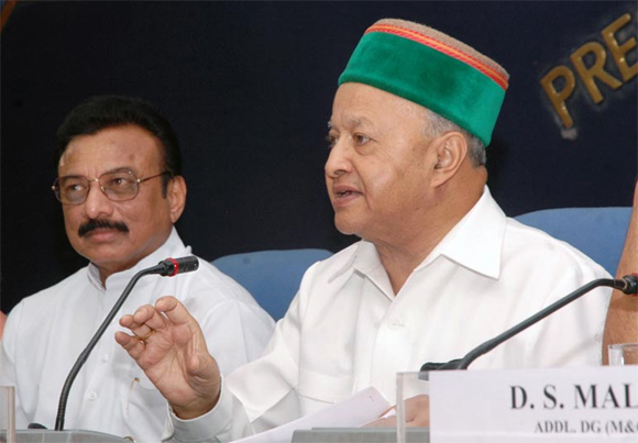 Former Union minister Virbhadra Singh