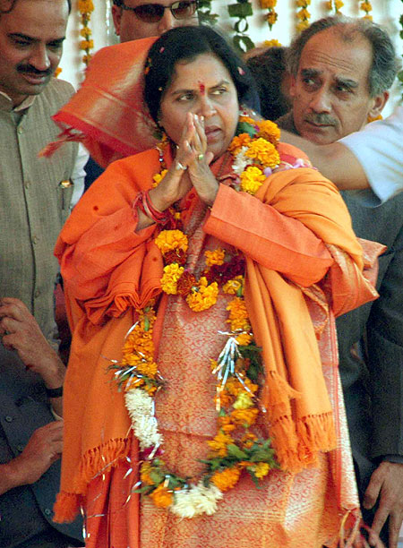 Uma Bharti is disappointed with UP
