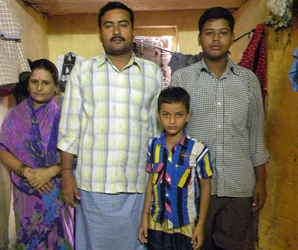 Vinod Shukla with his family