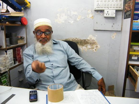 Taiyyab Nishanwala, owner of SuperTools in Khau Galli. The first blast took place right outside his shop