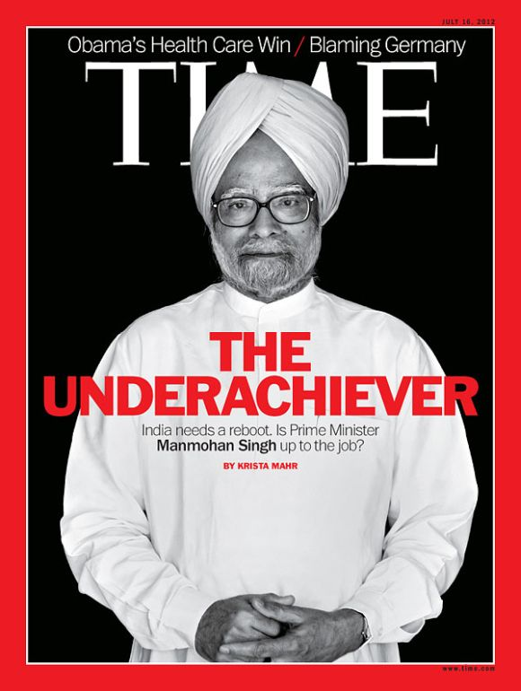 The Time magazine cover on PM Manmohan Singh