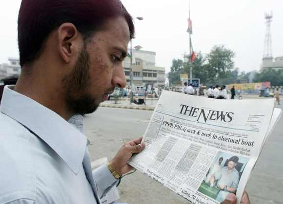 Election results announced in Rawalpindi, October 11, 2002