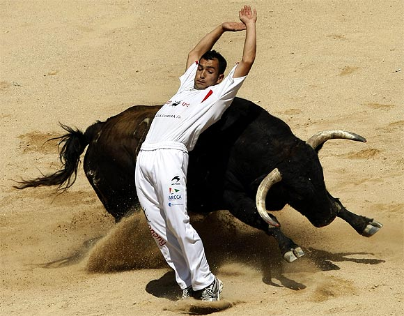 Floods in Russia, bullfighting in Spain