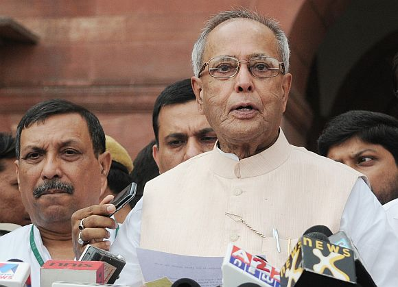 Congress-led United Progressive Alliance nominee for Presidential poll Pranab Mukherjee