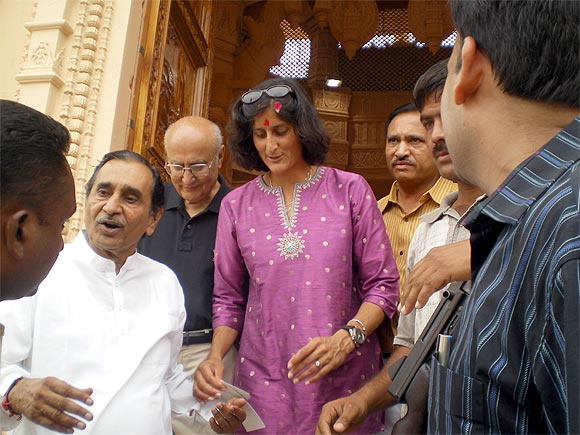 Sunita Williams during her visit to Gujarat in 2007