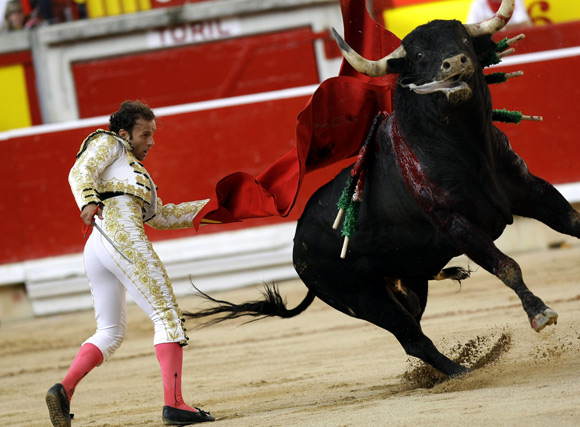 OLE! Smashing PHOTOS of Spanish BULL RUN