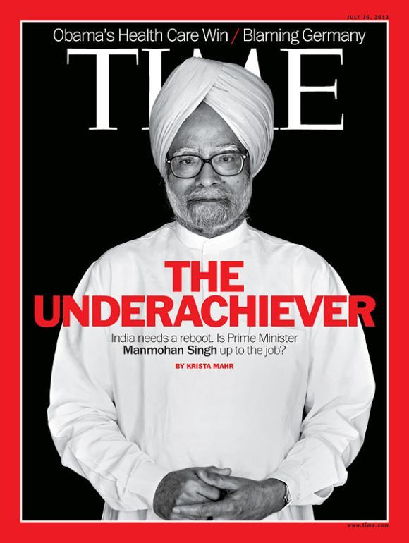 Manmohan Singh on the TIME cover.