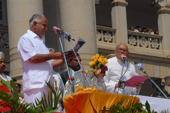 Yeddyurappa continues to rule