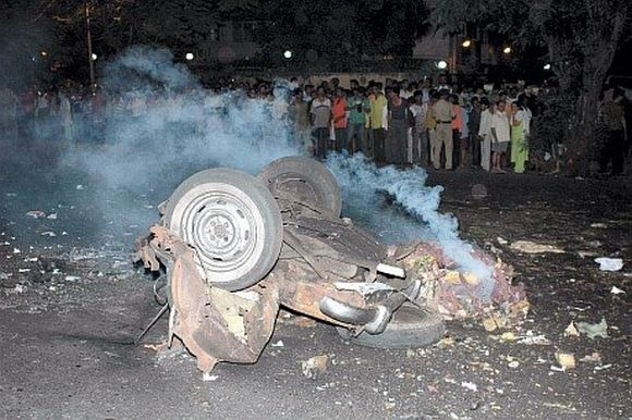 A taxi that exploded in Vile Parle up during the 26/11 attacks