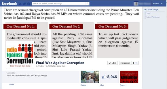 Kejriwal's Final War Against Corruption page