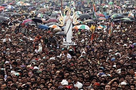 A Trinamool Congress rally in Kolkata last year