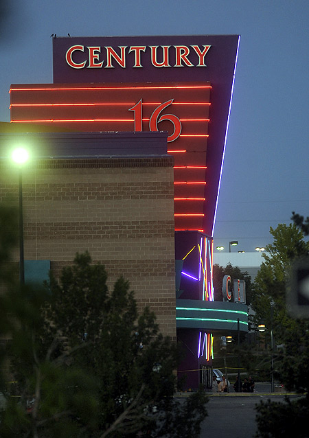 The Century 16 Theatre where a masked gunman killed 14 people