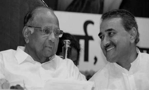 NCP chief Sharad Pawar with Minister for Heavy Industry Praful Patel