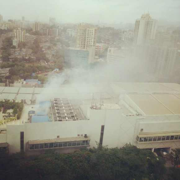 A fire broke out at the food court of the mall