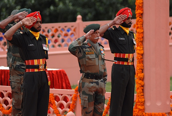 General Officer Commanding-in-Chief of Army's Northern Command Lt Gen K T Parnaik at the ceremony
