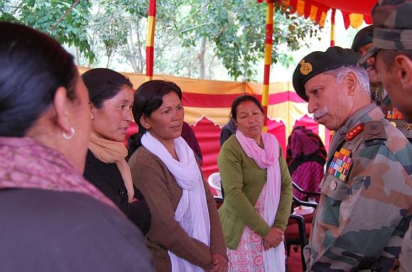 Gen Parnaik greets Army wives