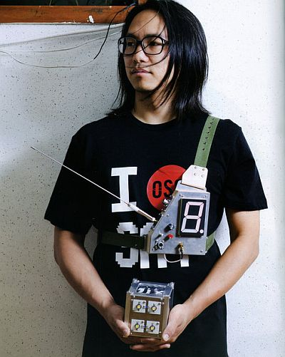 Song Hojun with his satellite